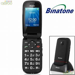 binatone sim free unlocked big button senior clamshell With flip phone numbers and letters