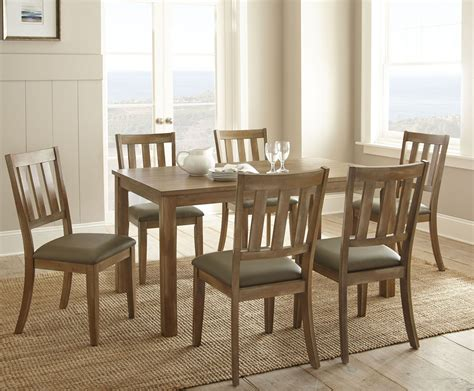 Ander Washed Pine Rectangular Dining Room Set, Ad450t