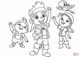 Jake Pirates Neverland Colouring Printable Coloring Pages Disney sketch template