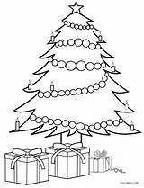 Coloring Tree Christmas Presents Pages Printable Cool2bkids Trees Drawing Present Gifts Craft Template Crafts Print Outline Colorful Season Merry Para sketch template
