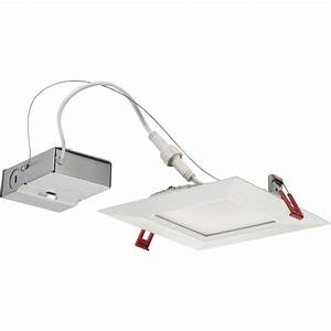 Lithonia lighting wafer square in white integrated led