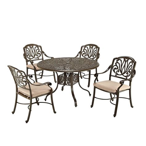 home styles floral blossom taupe 5 patio dining set