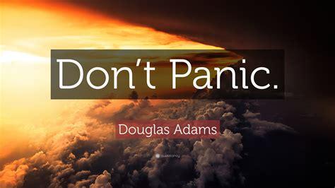 douglas adams quote dont panic  wallpapers