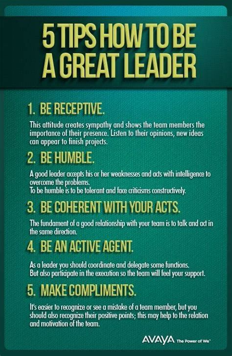tips     great leader leadership development