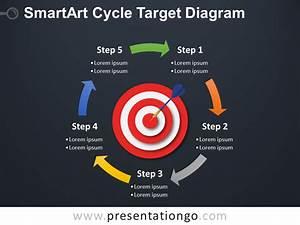 Smartart Cycle Target Powerpoint Diagram