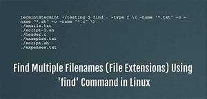 How To Use  U0026 39 Find U0026 39  Command To Search For Multiple Filenames