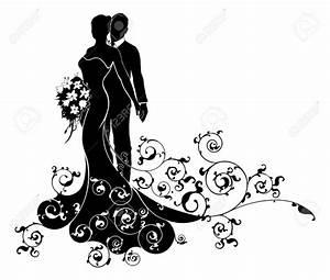 Dessin Couple Mariage Noir Et Blanc : robe nuptiale dessin mari e un couple de mariage mari e ~ Melissatoandfro.com Idées de Décoration