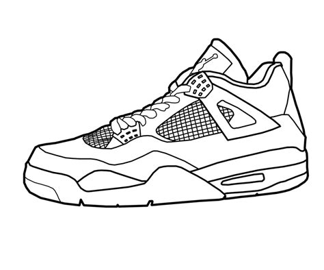 basketball shoe coloring pages   print