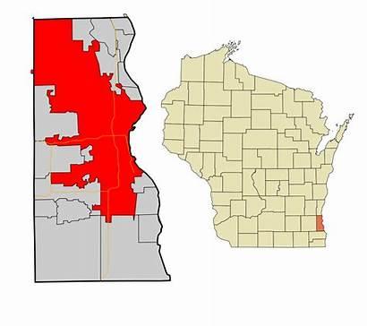 Milwaukee Wisconsin County Svg Neighborhoods Areas Highlighted
