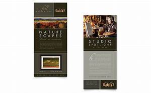letterhead examples design art gallery artist rack card template design