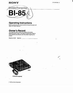 Sony Bi-85