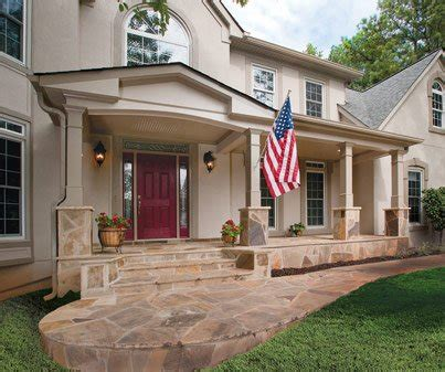 ranch style front porch builders front portico front porch