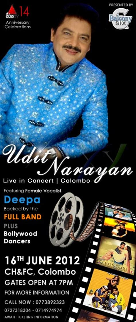 Udit Narayan Live In Colombo