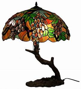 tiffany style oval grape bronze lamp traditional table With tiffany style grape floor lamp