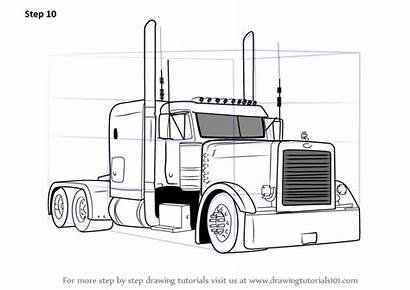 Peterbilt Truck Drawing 379 Draw Semi Coloring