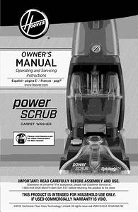 Hoover Fh50140 User Manual Carpet Cleaner Manuals And