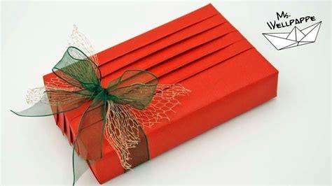 geschenk einpacken anleitung geschenke verpacken einfache anleitung