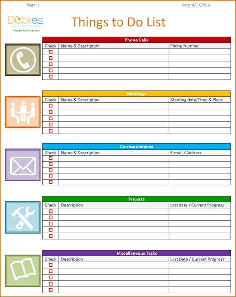 to do list checklist template 8 to do list templates authorizationletters org