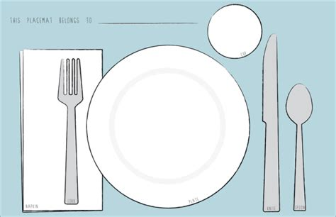 placemat template table setting placemat brokeasshome