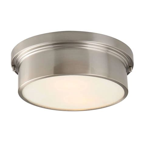 hton bay oxnard 2 light ceiling brushed nickel