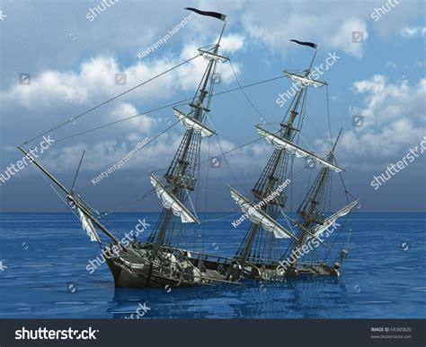 Sinking Ship Sea Stock Illustration 68385820 Shutterstock