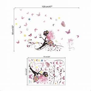 stickers geant chambre fille sticker chambre les animaux With chambre bébé design avec noeud papillon a fleur