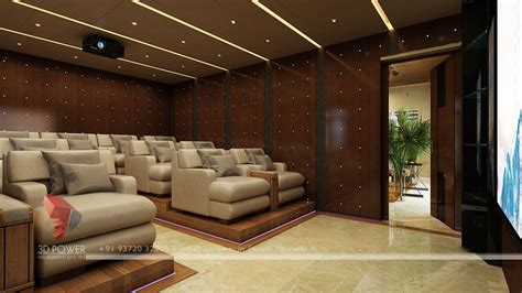 Interior Design For Home Theatre by Interior Animation Jalandhar 3d Power