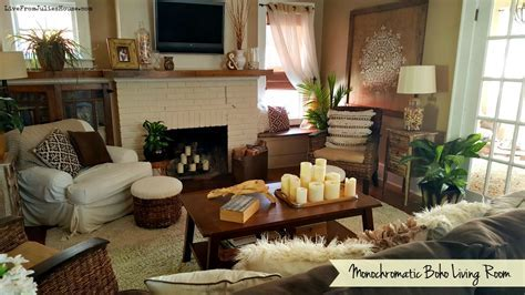 Monochromatic Boho Living Room Live From Julies House Fall