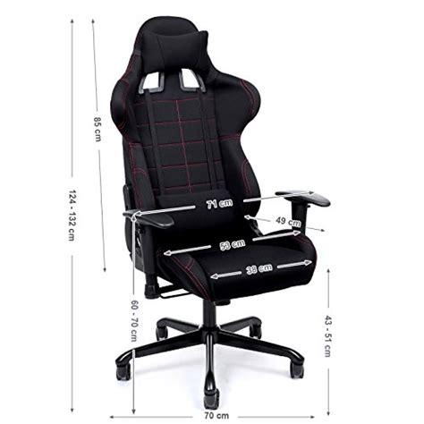 coussin chaise bureau songmics chaise gamer fauteuil de bureau racing sport avec