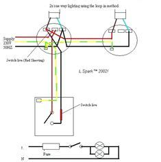 Two Way Switching Wire System Old Cable Colours Using
