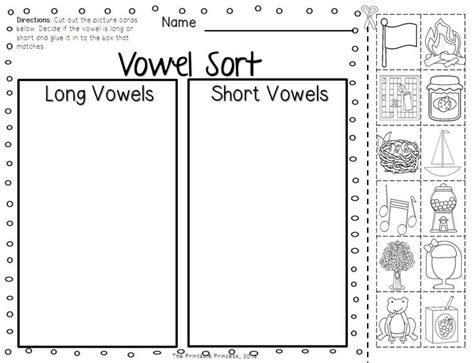 9 Best Images Of Long And Short Worksheets Kindergarten  Long And Short Vowel Worksheets, Long