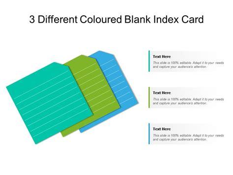 coloured blank index card