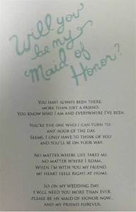 awesome way to ask your friend to be the maid of honor With letter to ask bridesmaids to be in wedding
