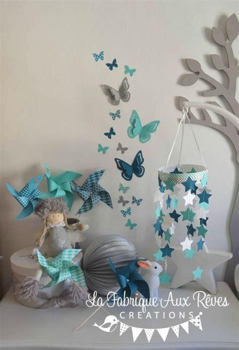 decoration chambre bebe turquoise caraibe bleu petrolebleu canard gris  blanc etoiles