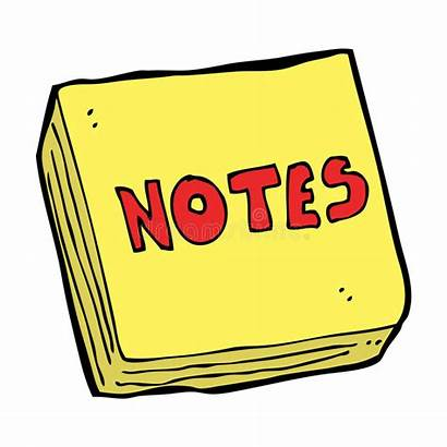 Cartoon Notes Clipart Writing Journal Pad Vector