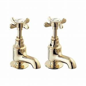 Deva coronation bath taps gold deva coronation deva for Gold bathroom sink taps