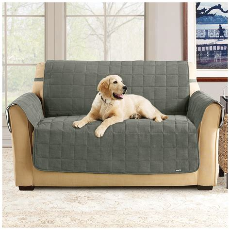 waterproof covers for pets sure fit 174 waterproof quilted suede sofa pet cover 292842