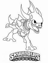 Skylanders Zap Coloring Colouring Printable Giants Eruptor Printablecolouringpages sketch template