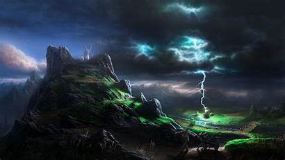 Lightning Cool Wallpapers Mountains