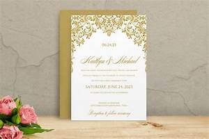 printable wedding invitation template download instantly With wedding invitations gold font
