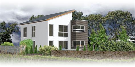 Moderne Pultdachhäuser by Beispielplanung 2 142 Qm Wfl Massivhaus Designhaus