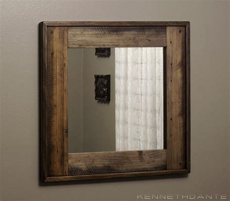 Wood Mirrors Bathroom by 20 Inspirations Wood Framed Mirrors Mirror Ideas