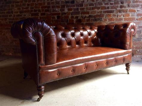 Chesterfield Settees For Sale by Howard And Sons Antique Chesterfield Sofa Settee
