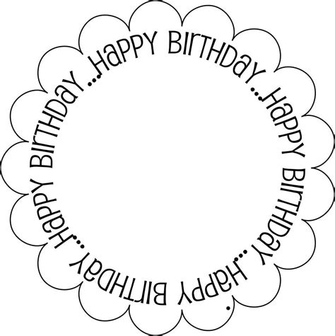 free happy birthday template 7 best images of black and white printable birthday cards