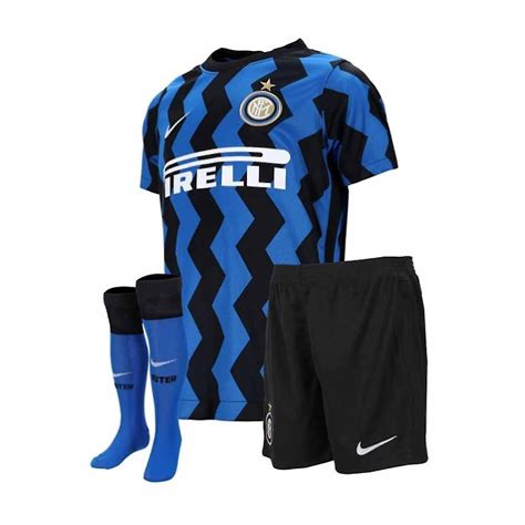 2020-2021 Inter Milan Home Nike Little Boys Mini Kit ...