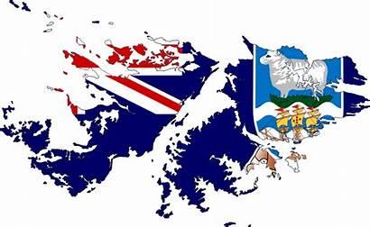 Falkland Flag Islands Map British Island Country