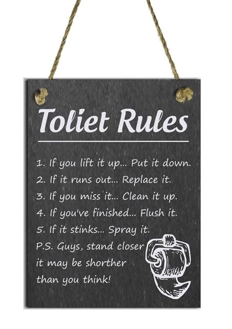 toilet rules funny bathroom signs bathroom signs