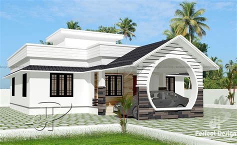 1109 Sq Ft Single Floor Home  Kerala Home Design