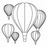Balloon Air Coloring Printable Getcolorings Lovely sketch template