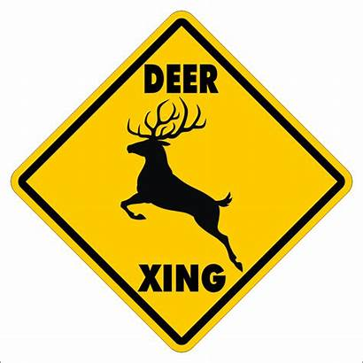 Deer Xing Crossing Signs Funny Novelty Gift